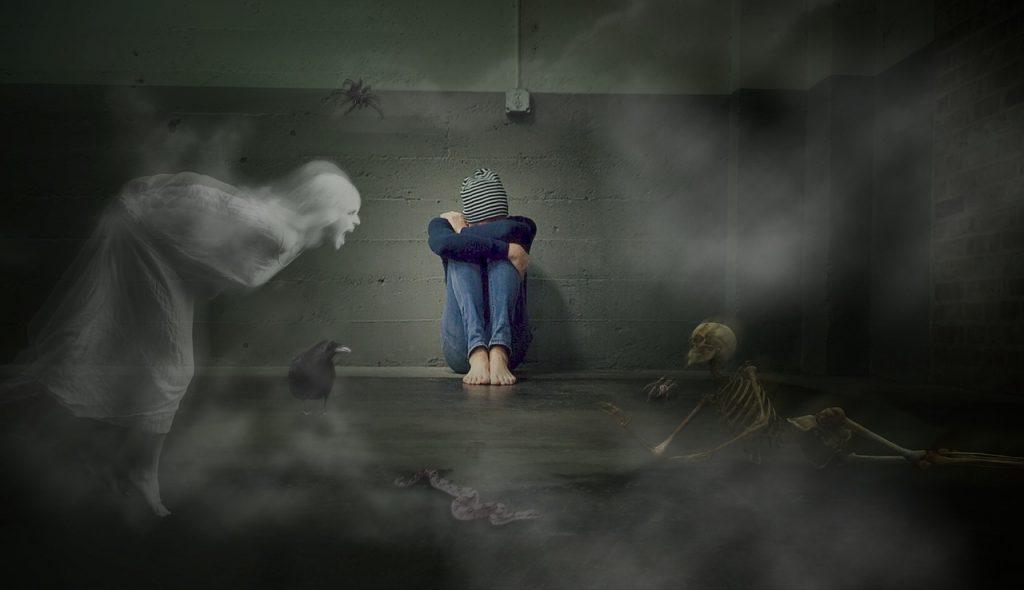 ילדה עם חרדות